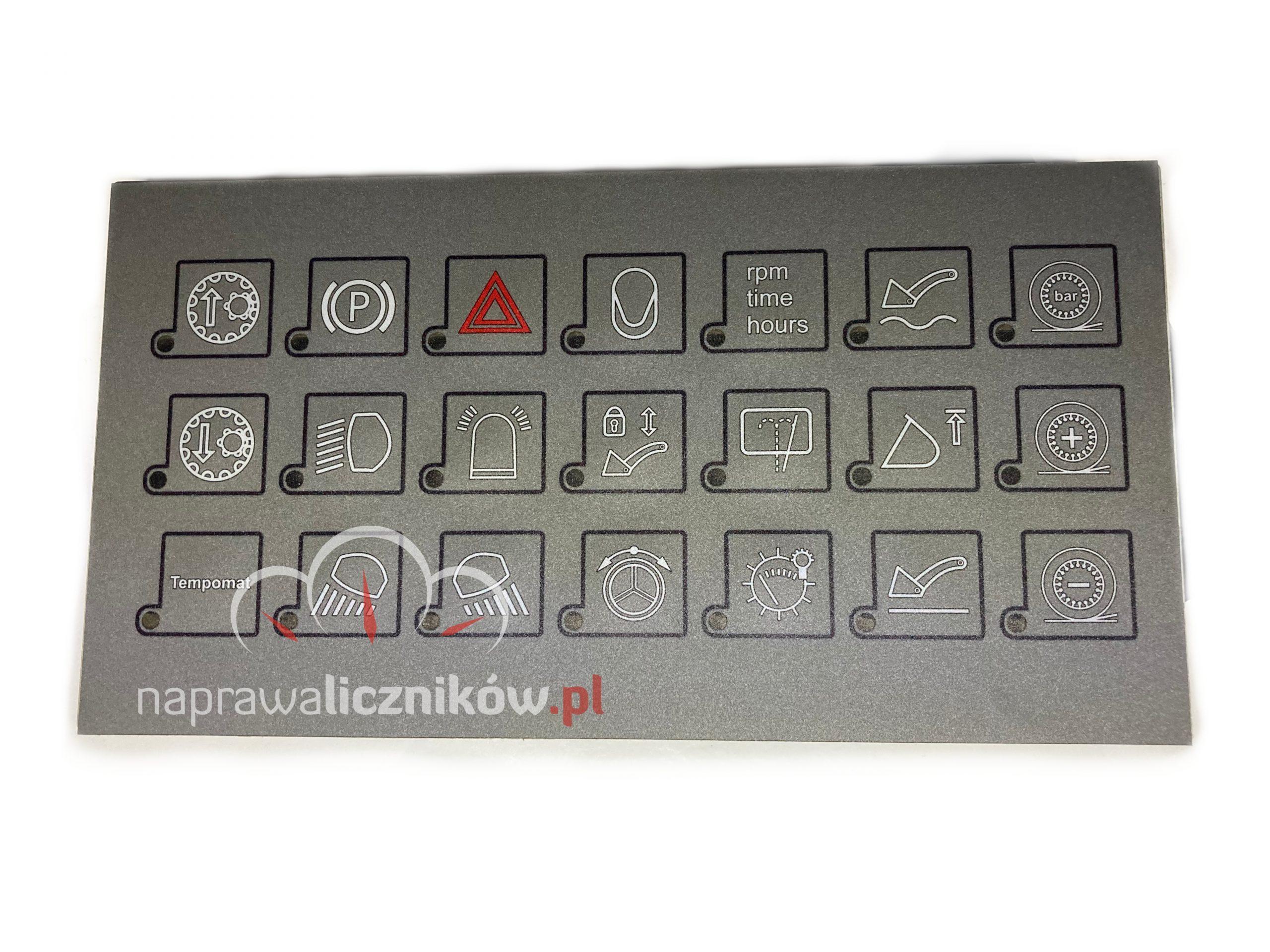 Naprawa panelu przycisków Liebherr L566