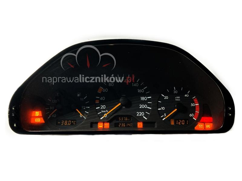 Naprawa licznika Mercedes W202, Mercedes nie działa obrotomierz, W202 nie działa licznik, Mercedes zegar nie działa, W202 nie widać przebiegu, wskaźniki nie działają, wskazówka nie podnosi się, licznik mercedes nie nalicza kilometrów